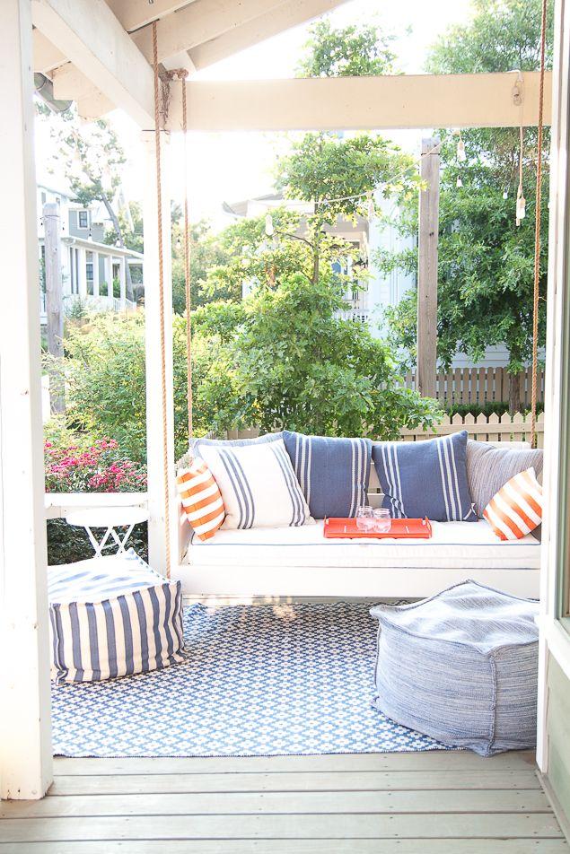 Porch Makeover Reveal | Decoraciones exteriores, Terrazas y Merida