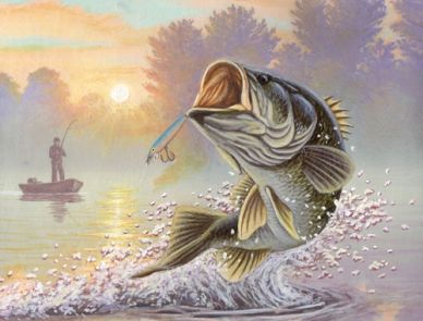 Fishing Clip Art | ... fishing art – guy harvey – trout art ...