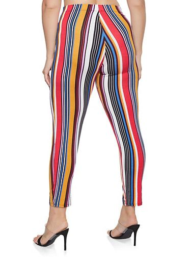 58c46c8f64 Plus Size Striped Soft Knit Pants