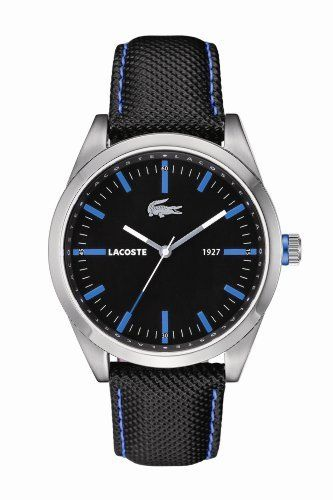 Lacoste Men s Montreal Black Blue   Watches  208973ebb0