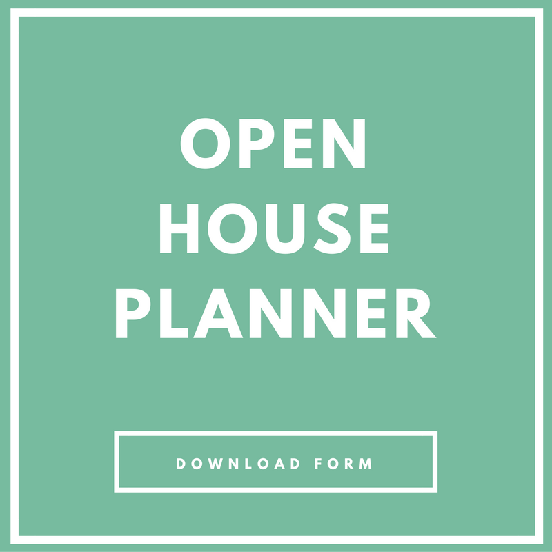 Open House Planner  Forms And Printables For Real Estate Success