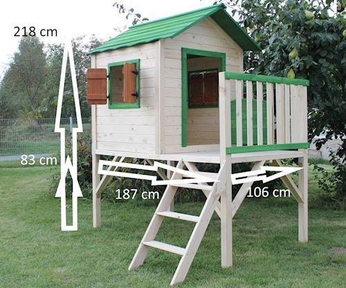 Cool Details zu SPECHT Kinderspielhaus Stelzenhaus Gartenhaus Spielhaus  AZ65