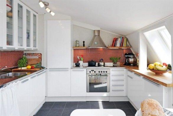 cucina mansarda - Cerca con Google | casa arredamenti | Pinterest ...