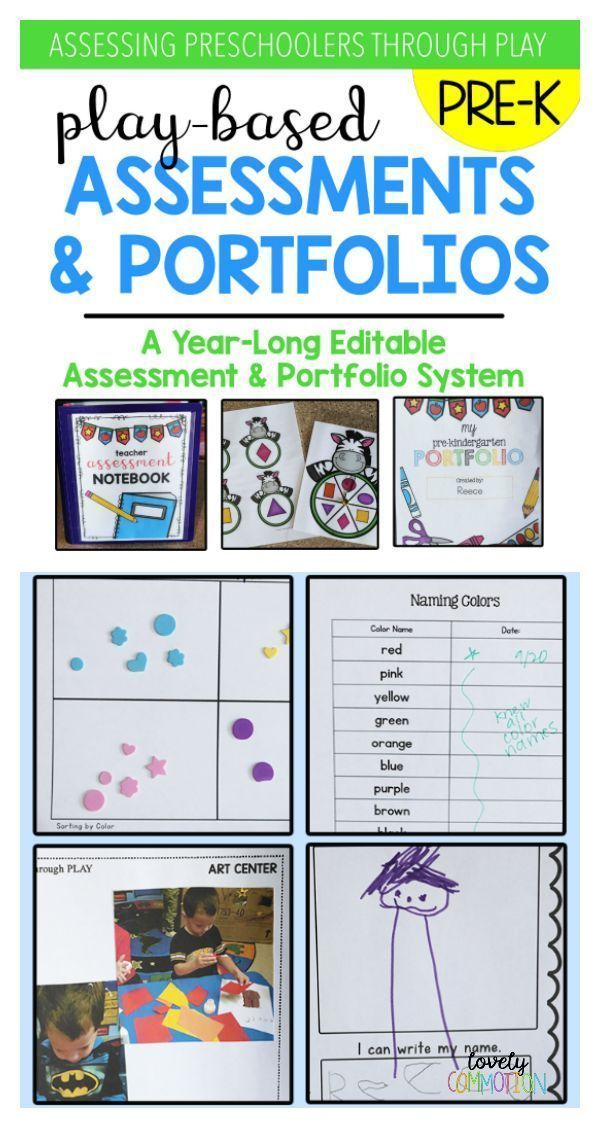 Play-Based Preschool Assessments & Portfolio | Epic Preschool Ideas ...