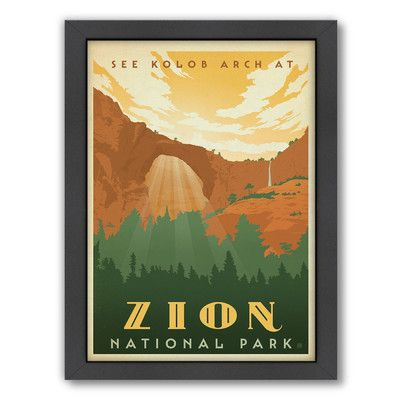 East Urban Home Zion Framed Vintage Advertisement Size: