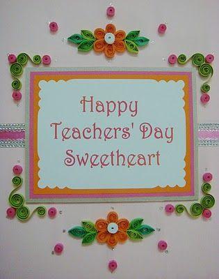 Lin Handmade Greetings Card Happy Teachers Day Sweetheart Happy Teachers Day Card Teachers Day Card Greeting Cards Handmade