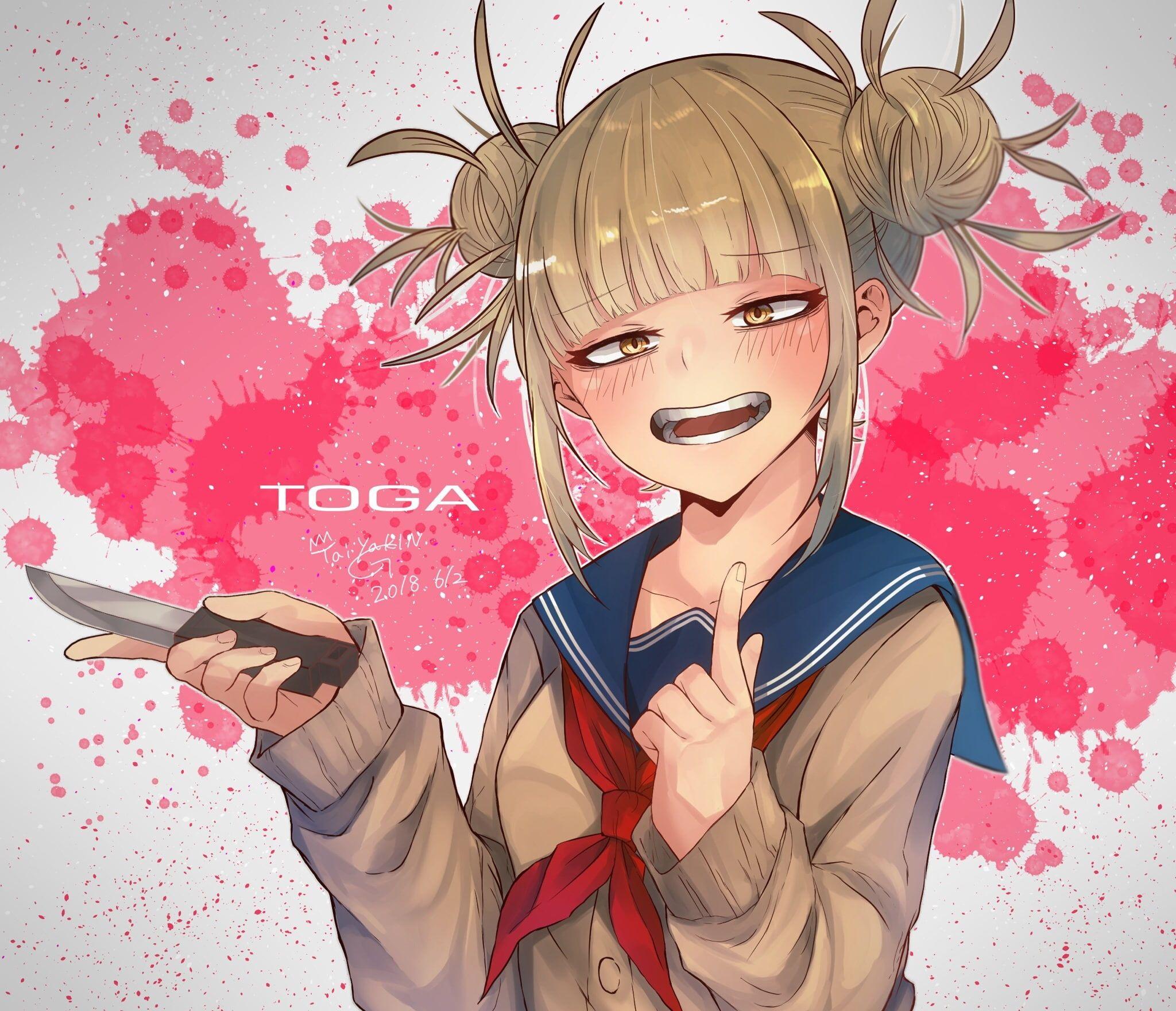 Anime My Hero Academia Himiko Toga 1080p Wallpaper Hdwallpaper Desktop In 2021 Anime My Hero Academia My Hero