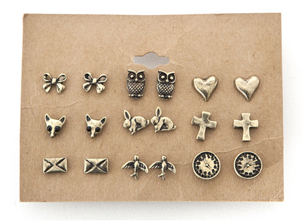 i love quirky studs