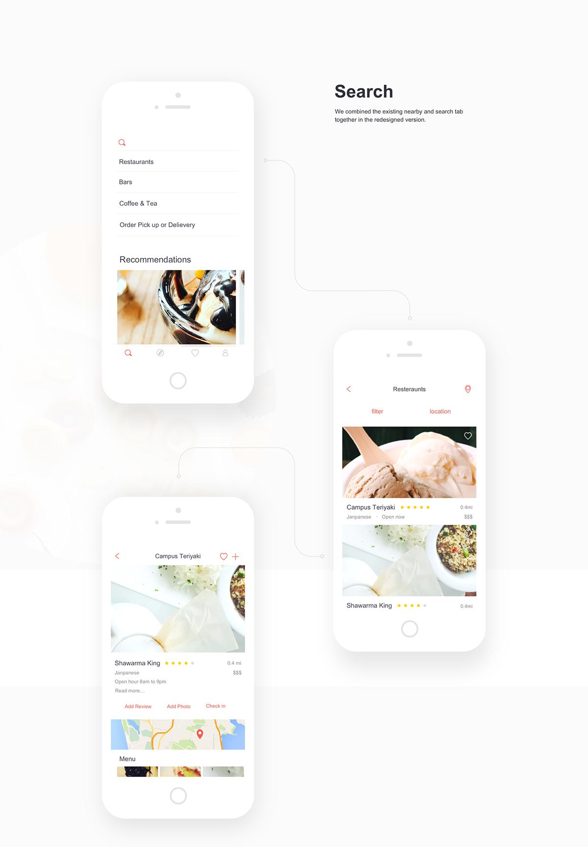 Yelp App Redesign Online web design, Creative web design