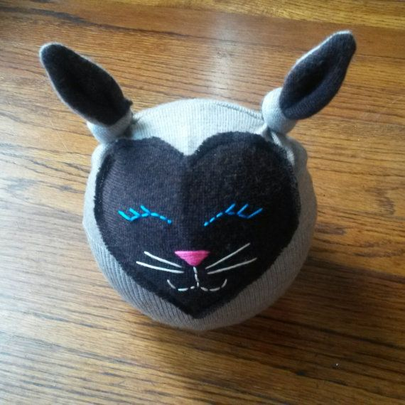 NB baby sleepy siamese cat hat photo prop by BabySwee on Etsy, $15.00