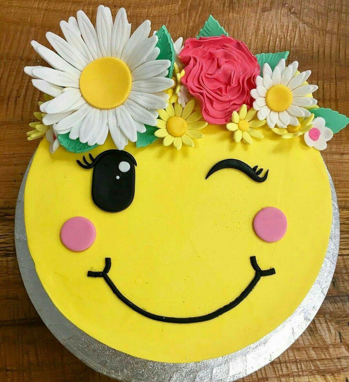 Happy Face Cake Emoji Birthday Cake Emoji Cake Cake
