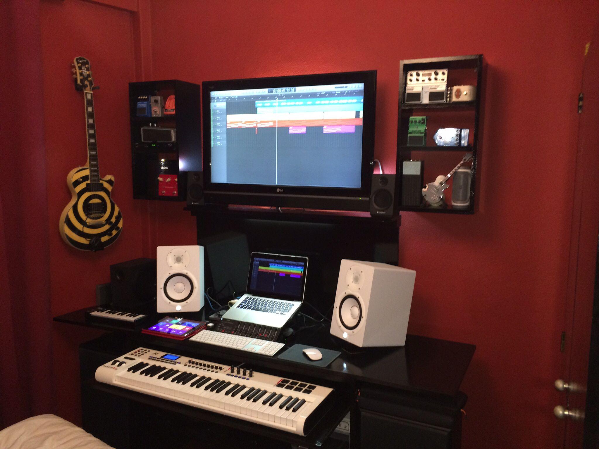 My bedroom studio | Music bedroom, Home studio setup ...