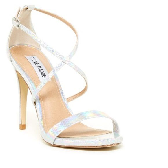 Steve Madden Feliz holographic heel sandals 7.5 Gorgeous holographic heels,  only worn twice. They