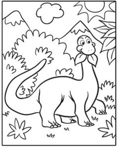Cute Dinosaur Coloring Page Dinosaurs Kopyala Boyama Sayfalari Dinozorlar Boyama Kitaplari