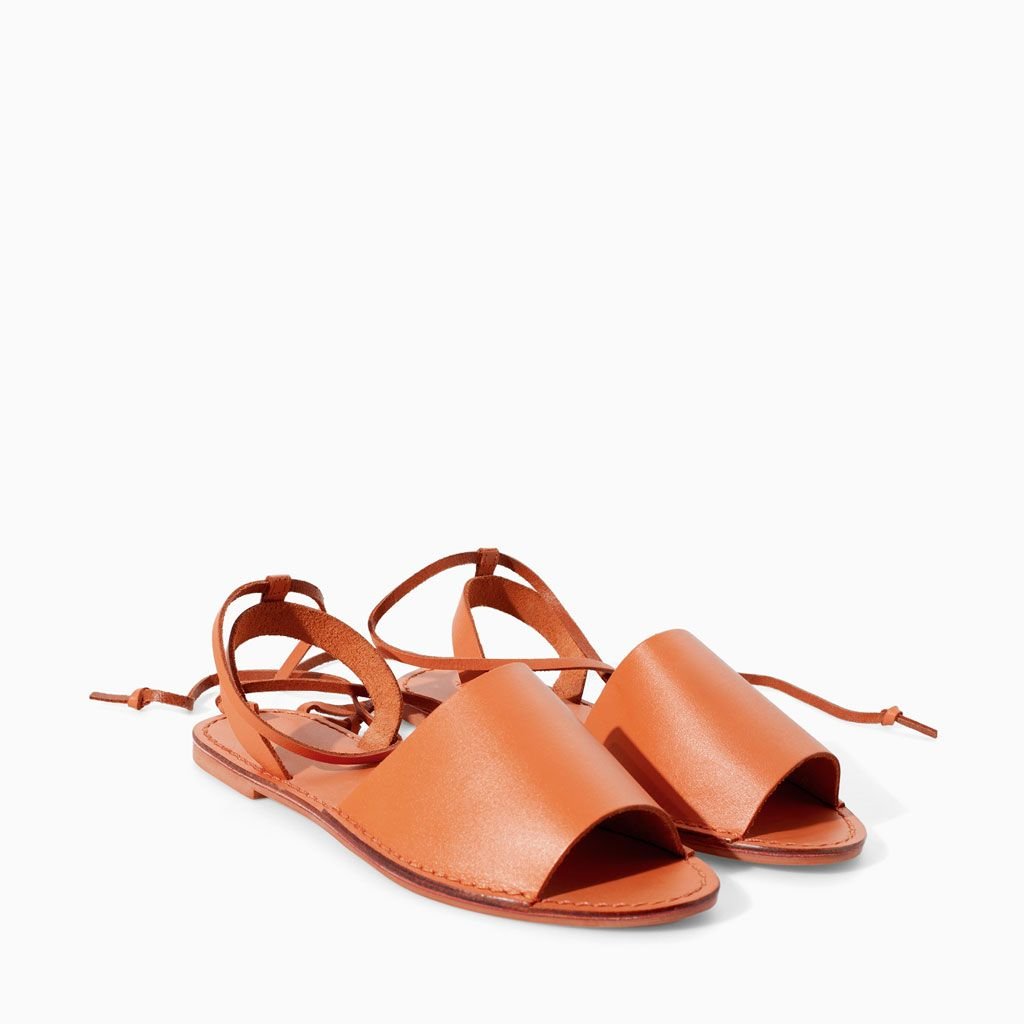 LEATHER SANDALS from Zara