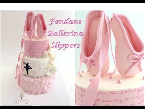 How to make Fondant Ballerina Slippers from Creative Cakes by Sharon. Link download: http://www.getlinkyoutube.com/watch?v=HlDsiIPCpg4