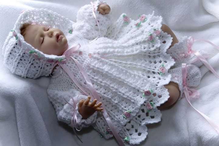 Crochet Baby Layettes,Sweater Sets,Baby Booties on ...