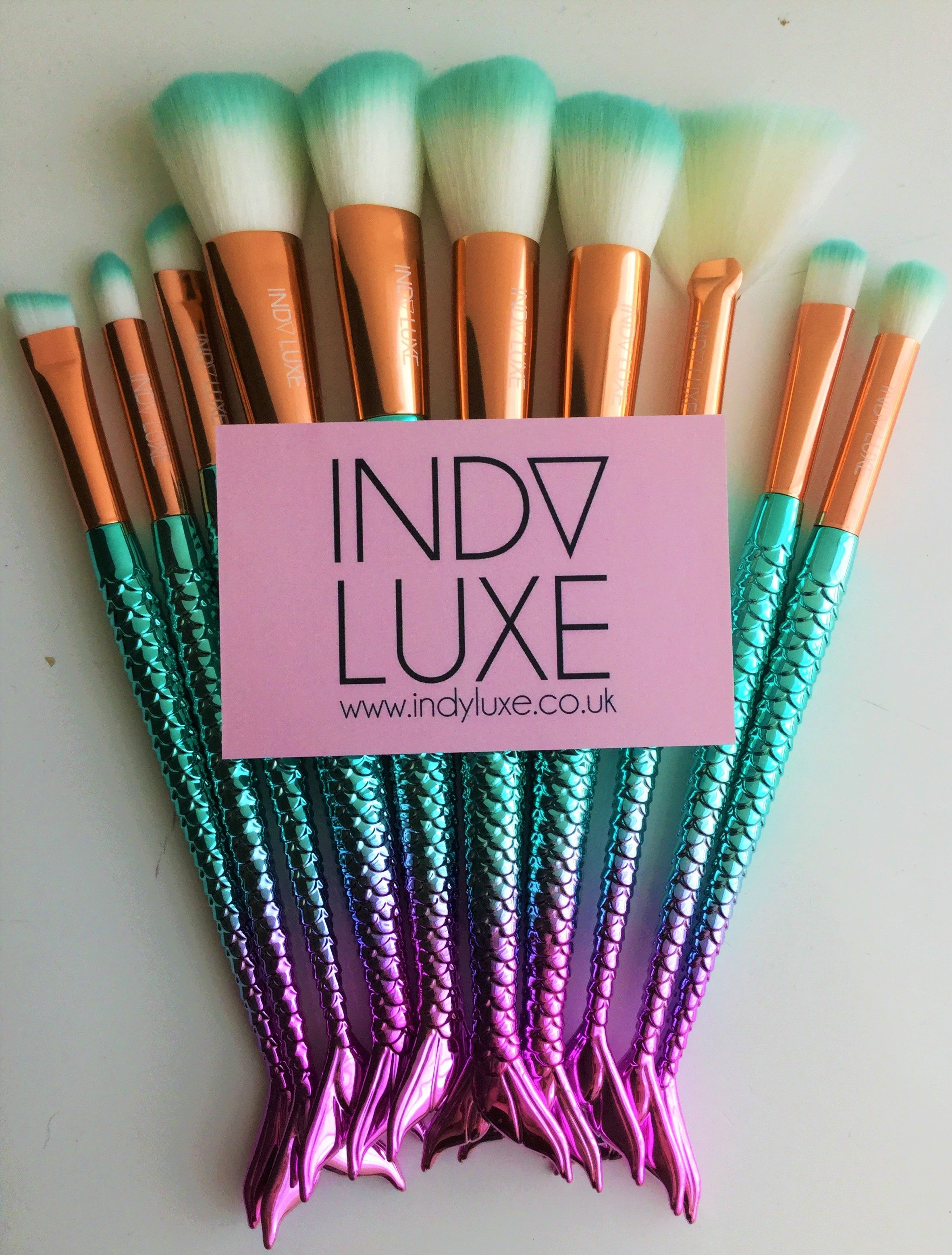 Indy Luxe Merbabe 10pcs Brush set (With images) Indie
