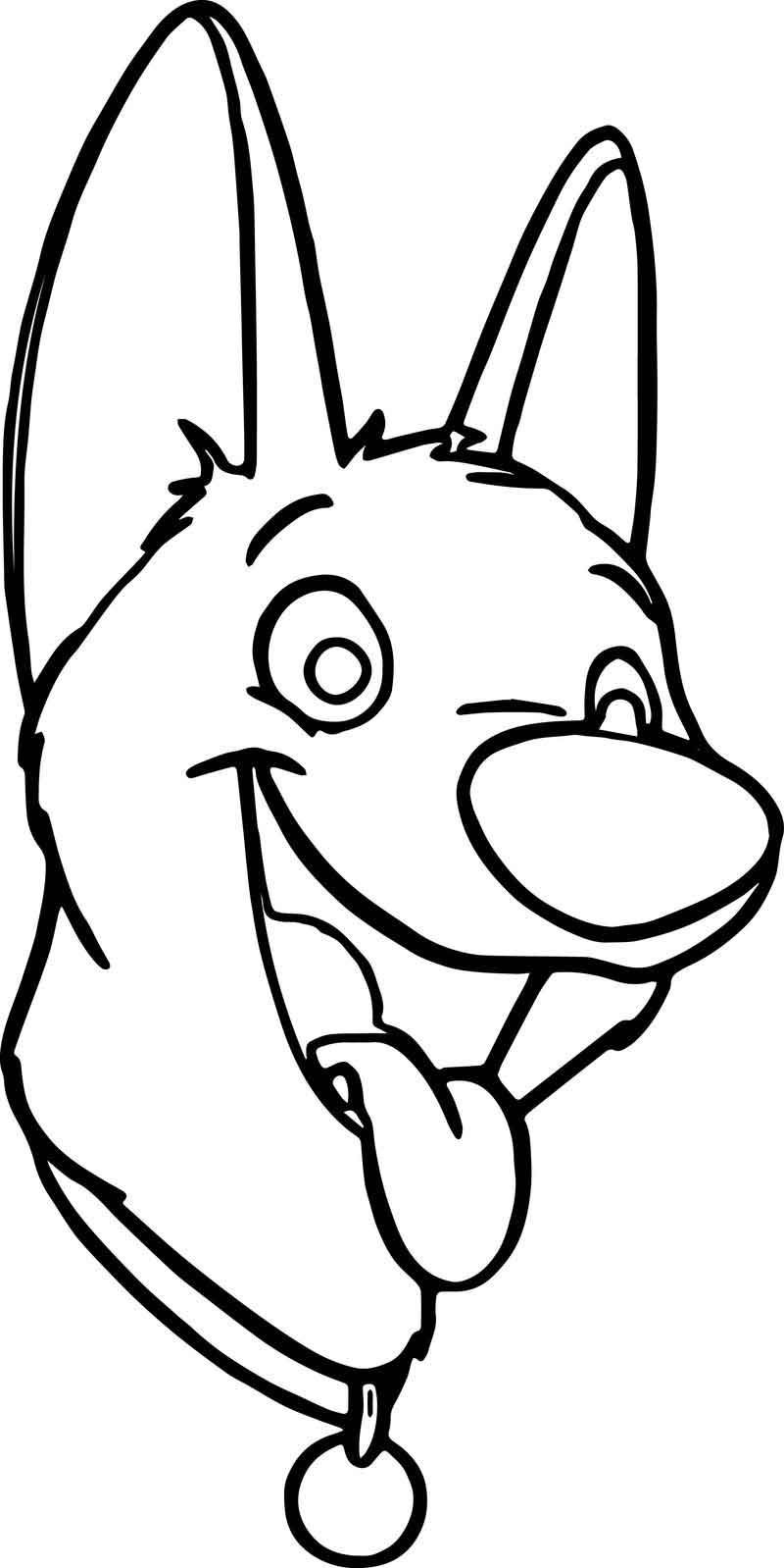 Bolt Dog Face Coloring Pages