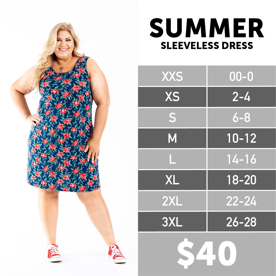 2020 Lularoe Summer Size Chart Sleeveless Dress Summer Sleeveless Dress Lularoe Size Chart [ 1081 x 1081 Pixel ]