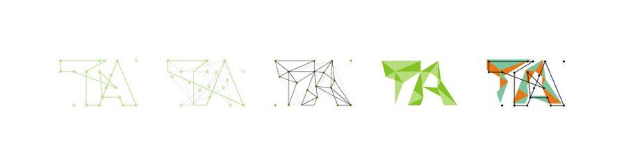 Think Arch Architecture Urbanism Landscape Garden Competition Lines Logo Design