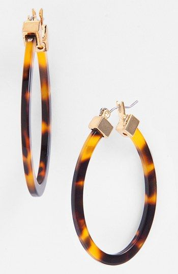 Lauren Ralph Large Oval Hoop Earrings Available At Nordstrom