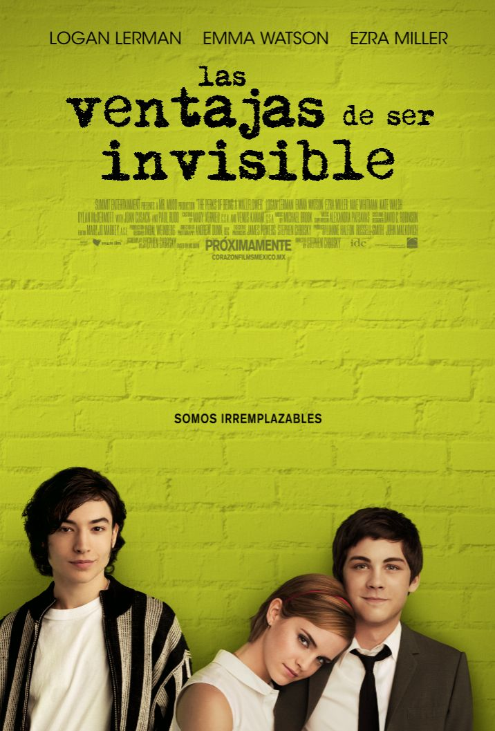 Póster oficial de LAS VENTAJAS DE SER INVISIBLE (The Perks of Being a Wallflower)