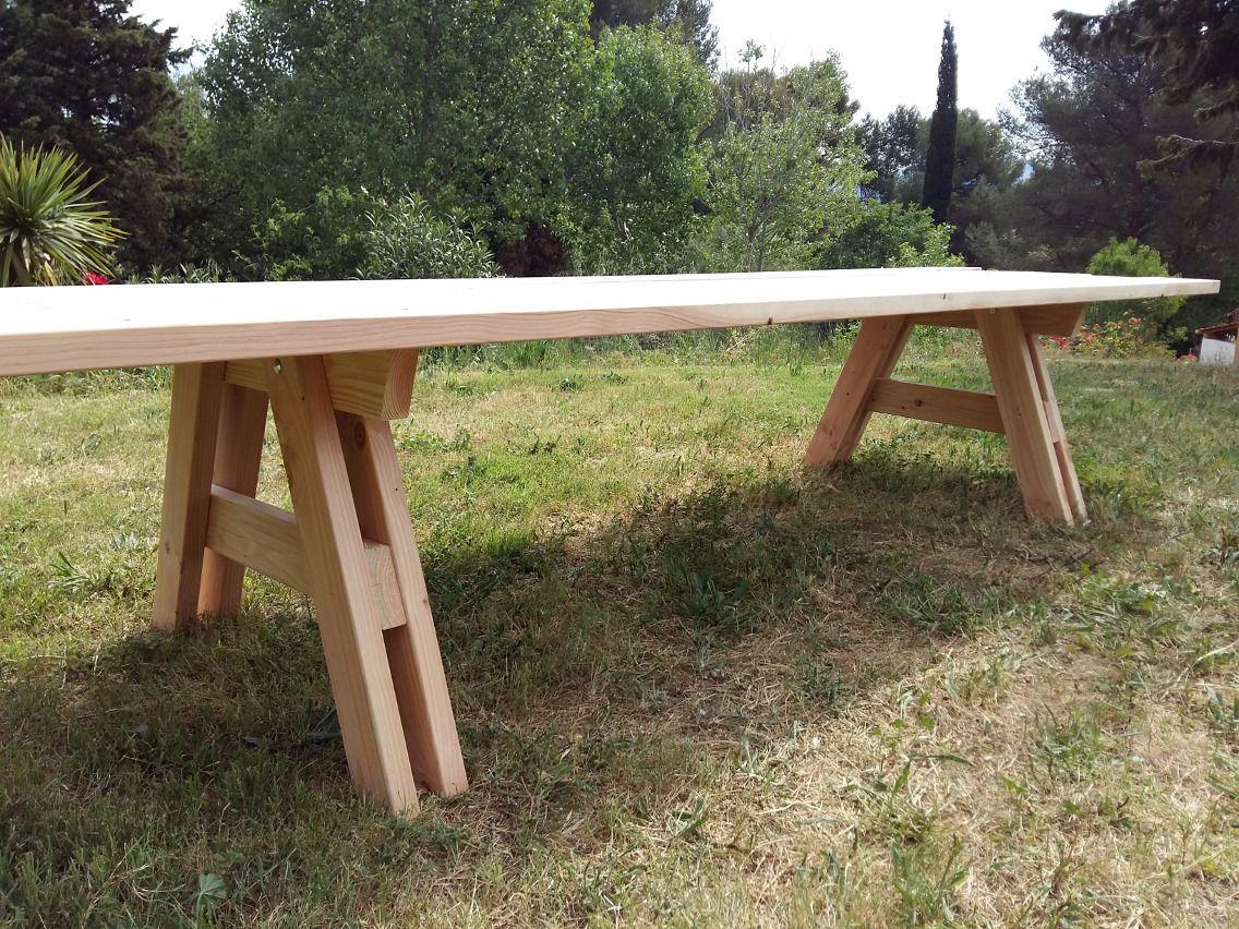 table en bois massif pour 14 16