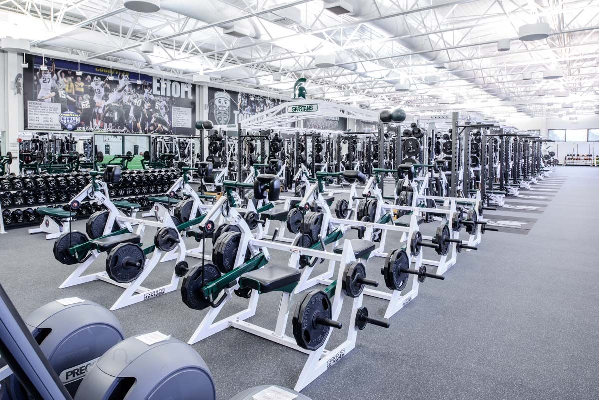 Michigan State University Rogers Athletic In 2020 Strength Training Program Michigan State Football Weight Changes