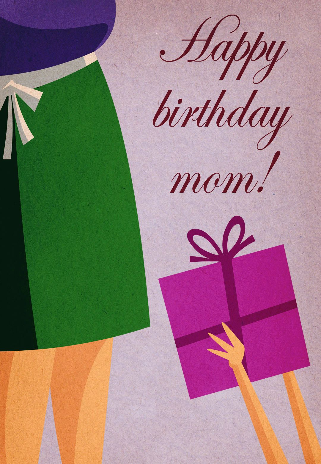 Free Printable Happy Birthday Mom Greeting Card #birthday ...