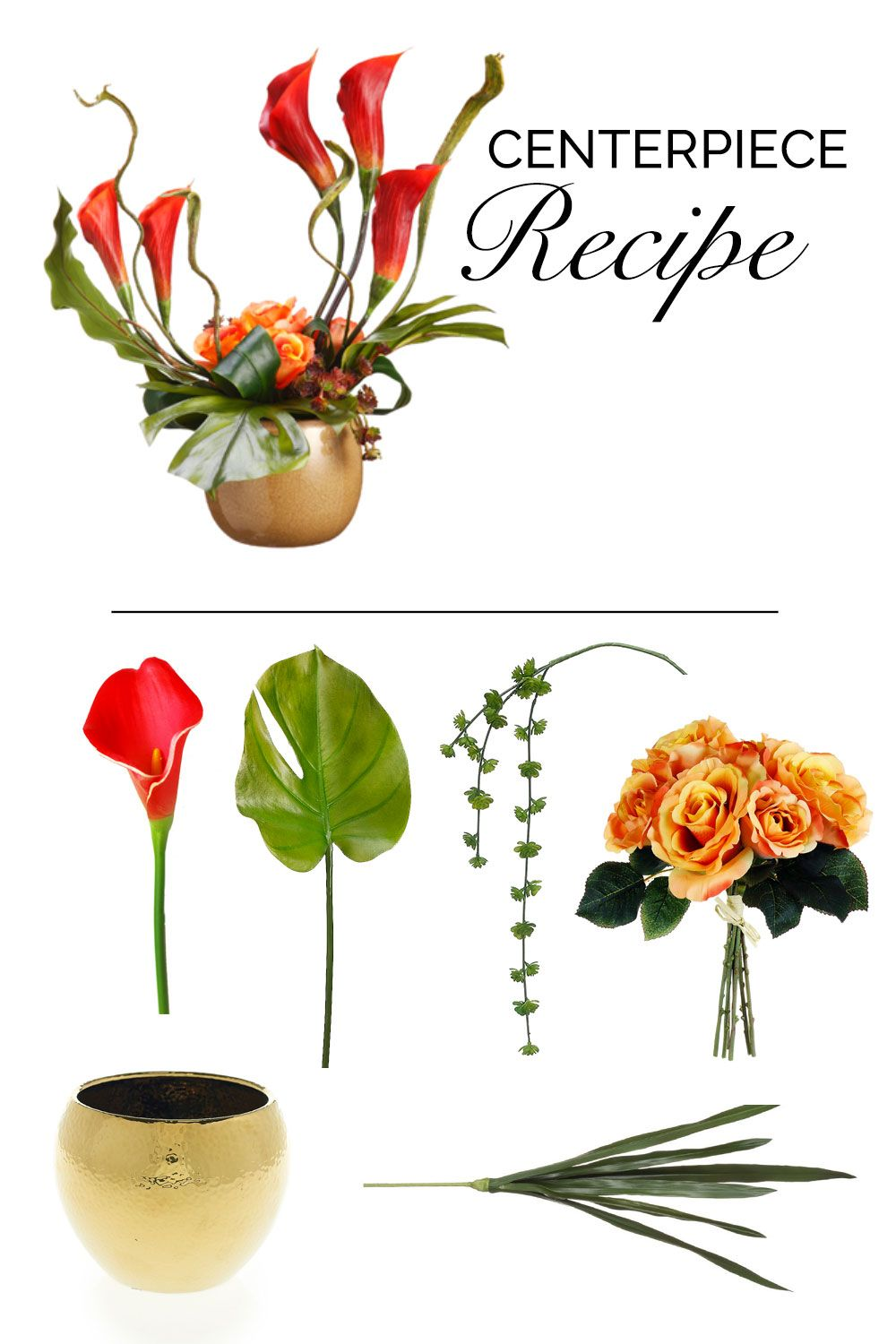Make this diy wedding centerpiece with faux tropical flowers and ...