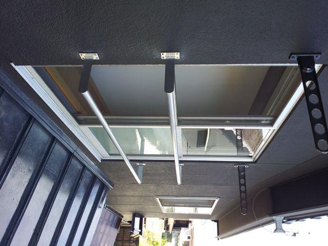 転落防止の窓手すり兼用ステンレスふとん干しバー ホセルノ20 S