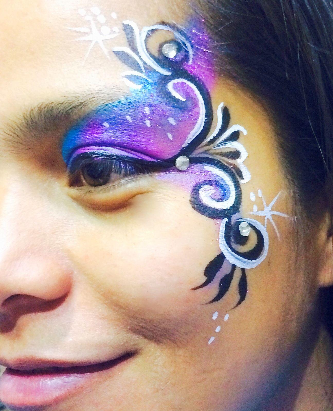 Elegant Eye Design Face Painting And Body Art Pinterest
