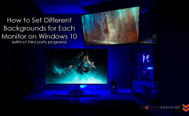 How To Set Different Wallpapers Backgrounds For Each Monitor On Windows 10 Without Third Party Programs Windows Wallpaper Wallpaper Trends Microsoft Windows Operating System