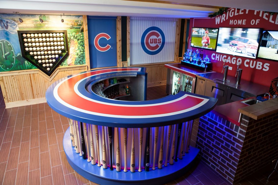 What An Awesome Man Cave Cubs Room Man Cave Basement Man Cave Home Bar