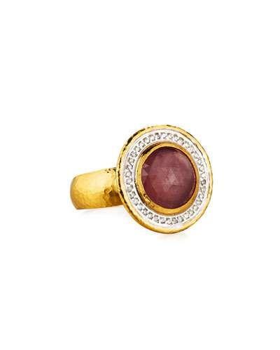 Azzuro 24k Sapphire & Diamond Ring, Size 5.5