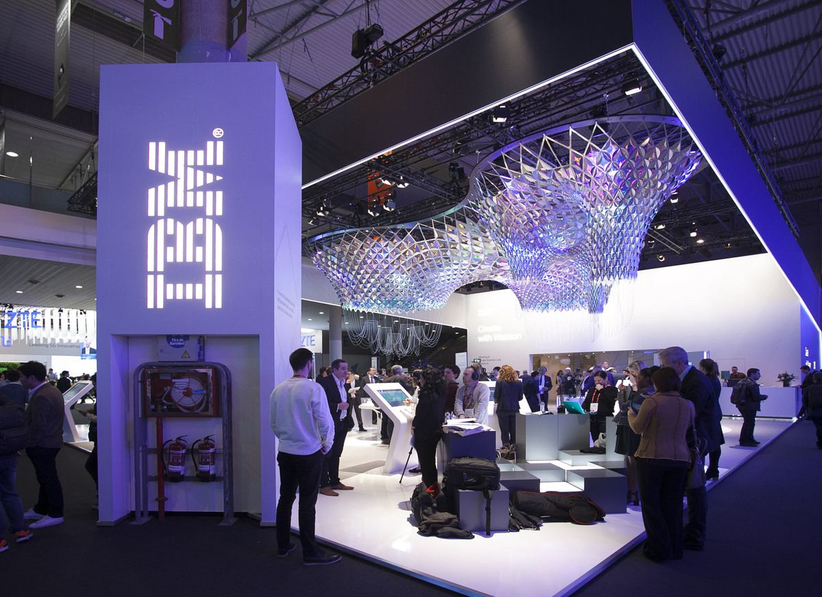 IBM MWC 2017 | SOFTlab | Archinect | Ibm, Booth design, Conceptual ...