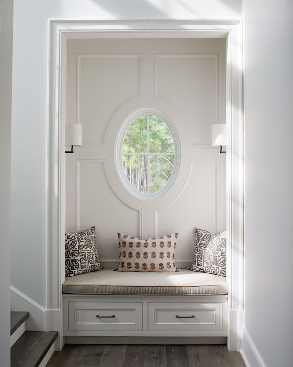 Wayne Windham Architect Entrances Foyers Entryway Niche Window Seat Built In Window Seat Window Seat With Drawers Alcove Seating Entry Nook Home Decor