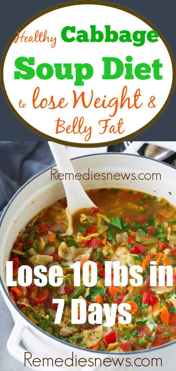 Easy Cabbage Soup Diet Recipes for Weight Loss - Lose 10 lbs in 7 Days images