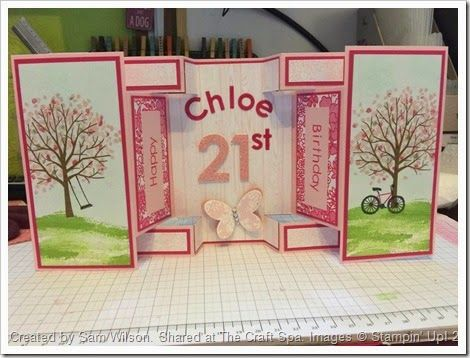 The Craft Spa - Stampin' Up! UK independent demonstrator : Sheltering Tree Large Square Double Display Card b...