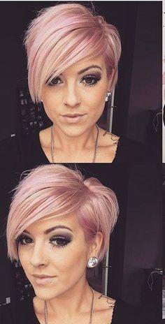 Kurzhaarfrisuren grau rosa