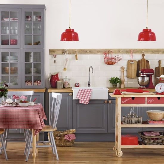 a caf style kitchen with a quirky peg rail top design ideas for your - Shaker Cafe Ideas