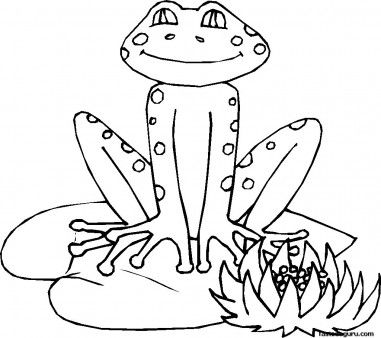 Printabel Frog On Leaf Coloring Pages Printable Coloring Pages For Kids Frog Coloring Pages Snake Coloring Pages Leaf Coloring Page
