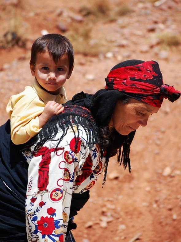Morocco Child Mother Babywearing