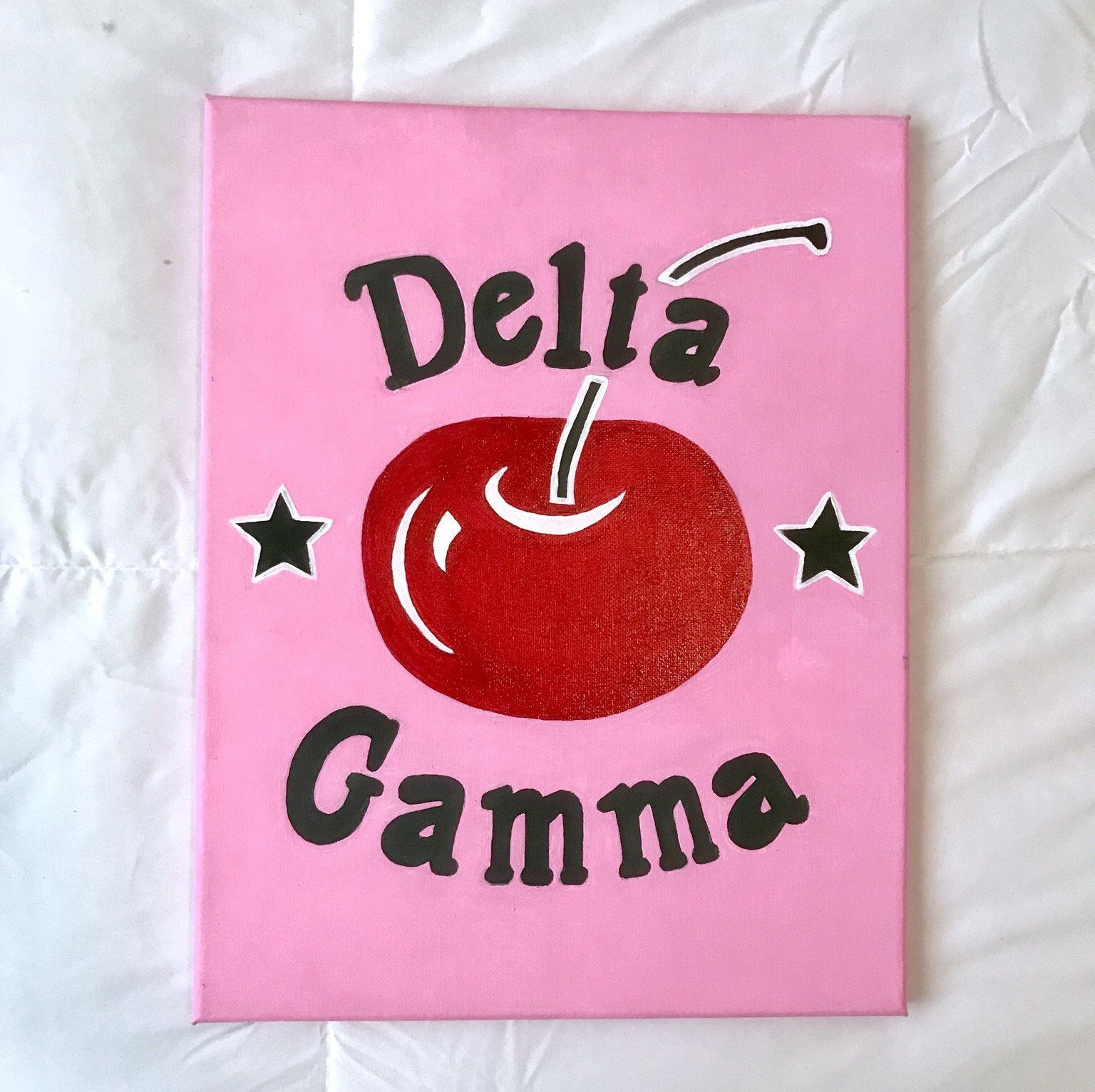 Excited to share the latest addition to my #etsy shop: Delta Gamma Canvas ~ Big Cherry #art #painting #sorority #deltagamma #canvas #cherry #biglittle #biglittlecanvas