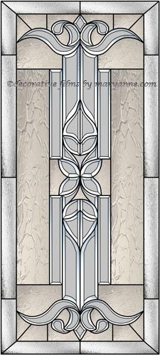 Beveled Door Window Decorative Window Film Man Cave In