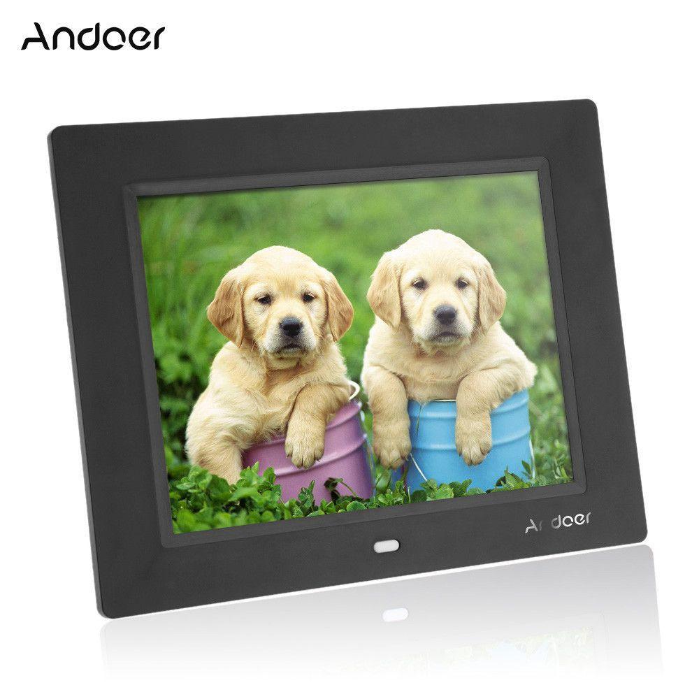 8\'\' Ultrathin HD TFT-LCD Digital Photo Frame Alarm Clock MP3 MP4 ...