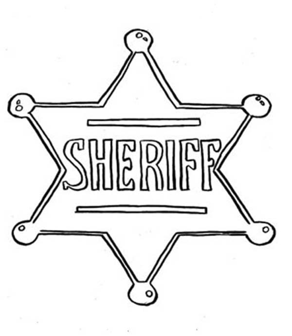 Picture Of Sheriff Badge Coloring Page Coloring Sky Star Coloring Pages Sheriff Police Badge