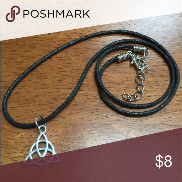 """Celtic Knot Choker Necklace 13-15"""" If you want to have an actual """"choker"""" then the 13-15"""" cord will be perfect!   ▪️ If you want 16-18"""" cord to layer with a shorter choker, or if you just want a choker that's a little bit longer. Pls let me know.  Love to bundle fast shipping Happy to answer questions Jewelry Necklaces"""