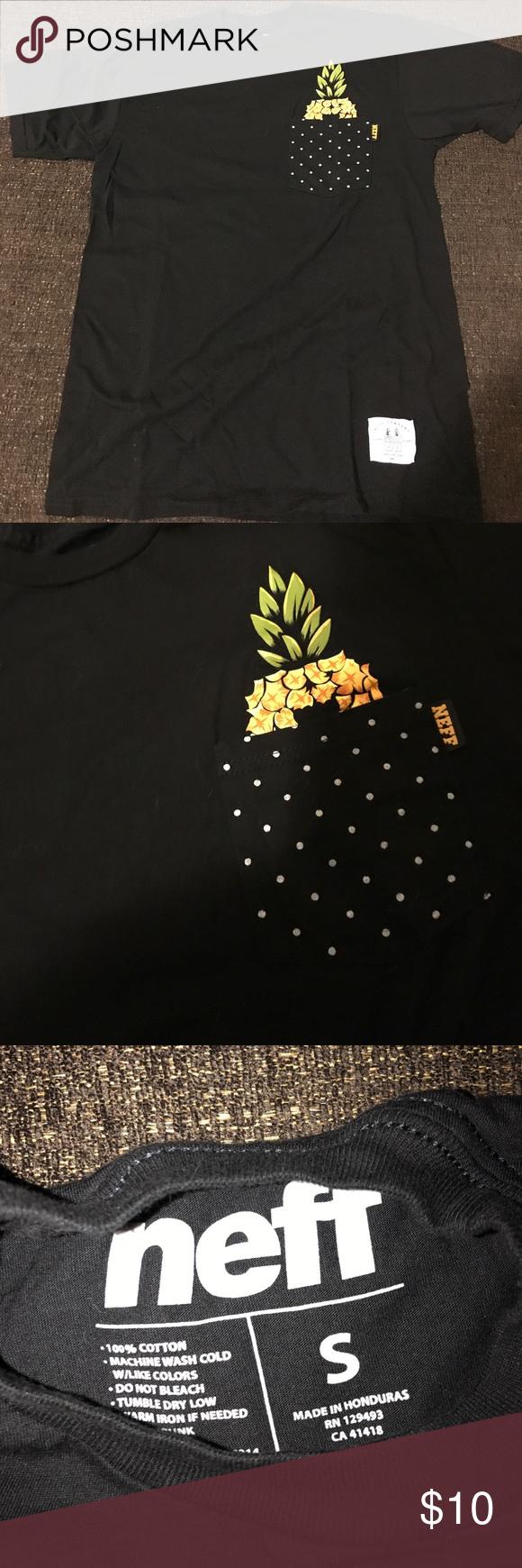 Neff Pineapple pocket shirt. Black & white polka dot pineapple pocket shirt. Neff Tops Tees - Short Sleeve